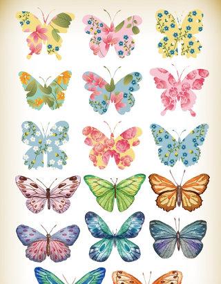 卡通手绘蝴蝶