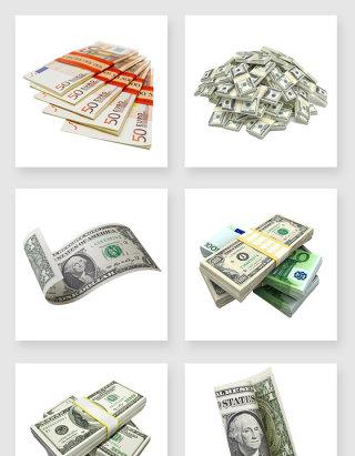 不规则图形一堆钱币设计素材