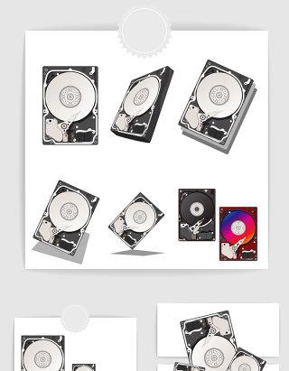 矢量电脑硬盘素材