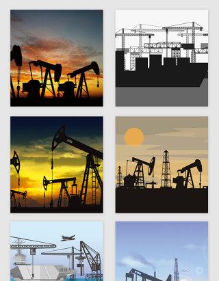 大型重工业场景矢量素材