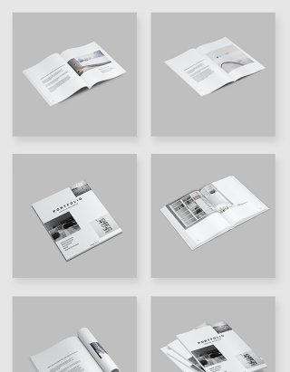 高清PSD分层杂志书籍