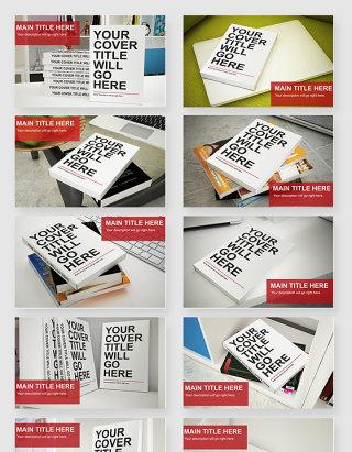 时尚室内书本杂志贴图样机素材