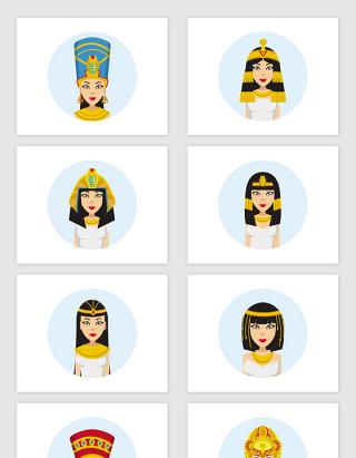 矢量卡通埃及艳后