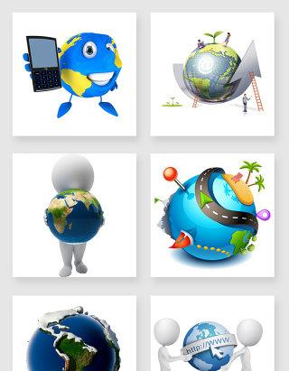 3d地球设计元素