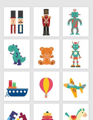 不规则图形儿童玩具矢量元素