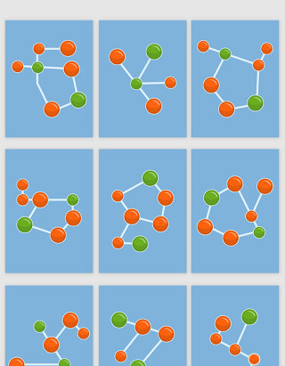 科技的线条分子结构矢量素材