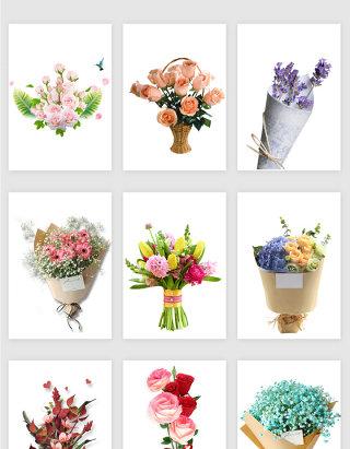 鲜花花束矢量素材
