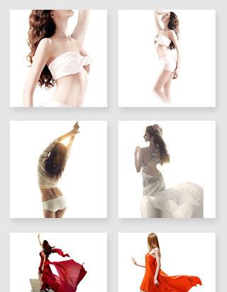 漂亮的美女模特设计元素