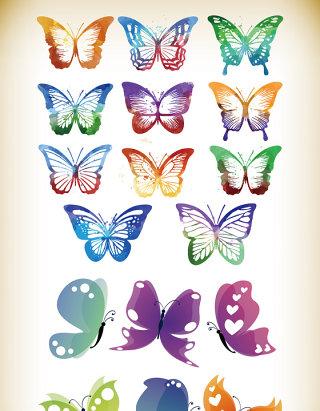 中国风抽象彩绘蝴蝶