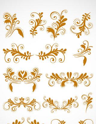 金色花边矢量图像