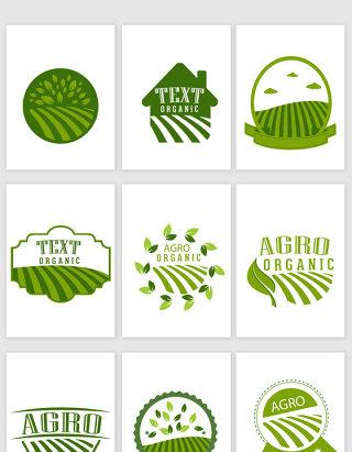 不规则图形农业图标设计素材