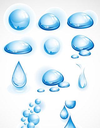 水珠水滴矢量图形