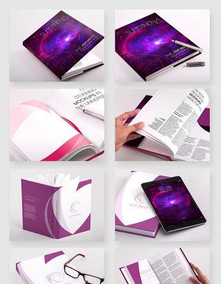 企业品牌文化宣传画册书籍封面贴图样机模板