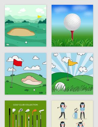 高尔夫体育休闲运动竞技图标户外运动素材
