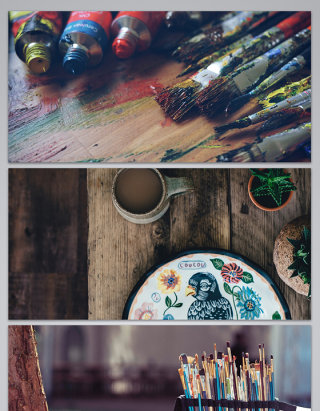 绘画工具各种各样艺术