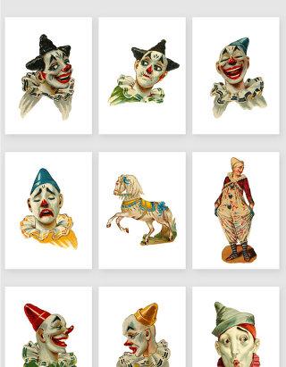 马戏团娱乐小丑剪贴画PNG素材