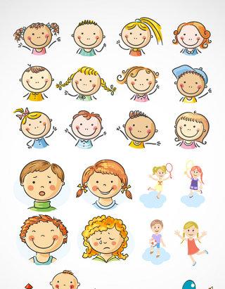 儿童节可爱卡通矢量素材
