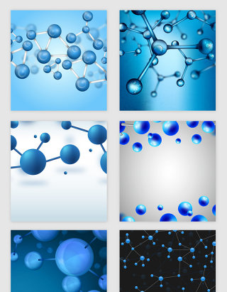 蓝色科技医疗线条分子纹理矢量素材