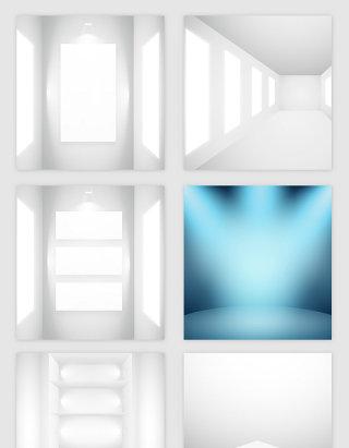 空房子灯光模型矢量素材