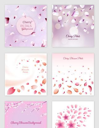 粉色浪漫樱花花瓣素材