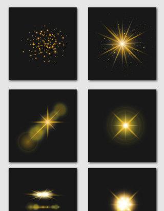金色光效矢量素材合集