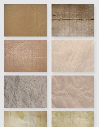 做旧纸板纸张折痕纹理材质素材