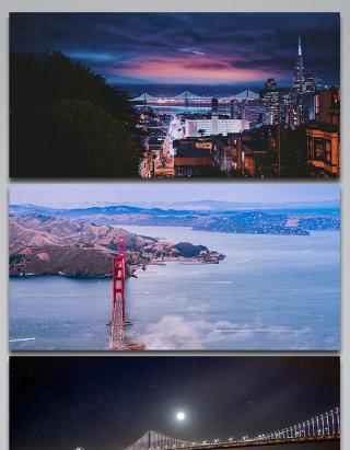 美国旧金山城市旅游背景图
