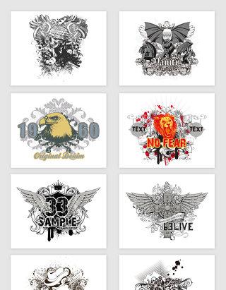 矢量创意涂鸦纹身图案