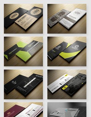 商务名片设计排版PSD素材