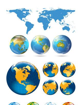 创意地球水晶地球素材