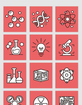 矢量生物化学科技元素