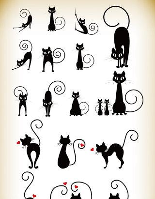 卡通可爱猫咪