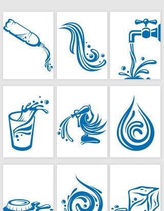 水滴水资源矢量元素