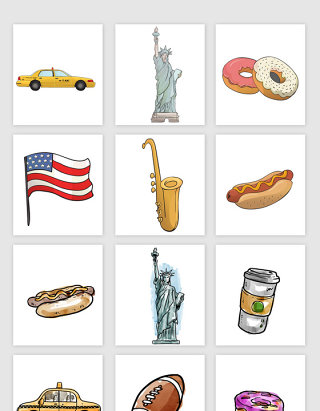 美国文化物体设计素材