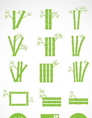 竹子元素矢量图标图形