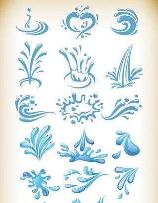 水滴水花素材