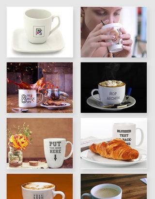 高清PSD时尚咖啡杯智能贴图样机