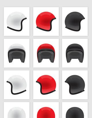 矢量高清摩托车助动车头盔