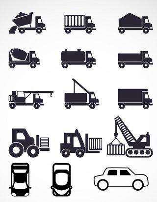 矢量交通工具图标素材