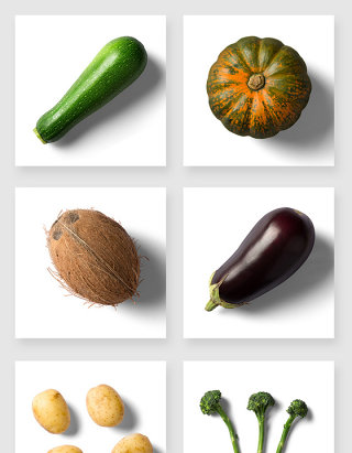 高清南瓜茄子土豆蔬菜PSD素材
