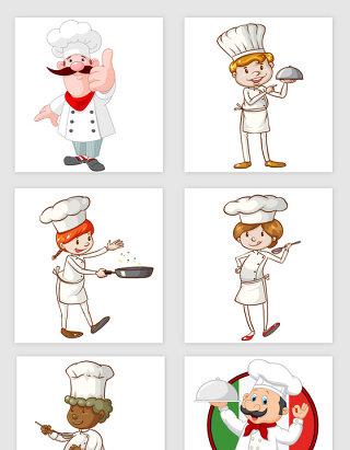 手绘卡通厨师的素材