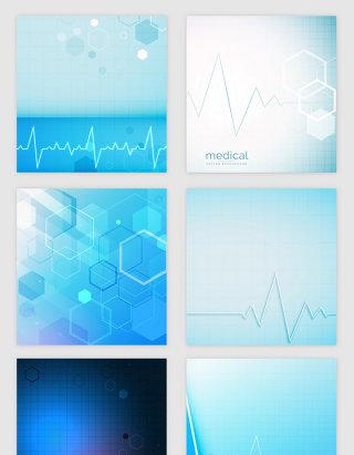 蓝色医疗科技的光效纹理矢量素材