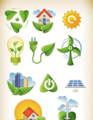 绿色环保小图标