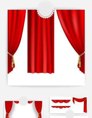 中国红幕布设计素材