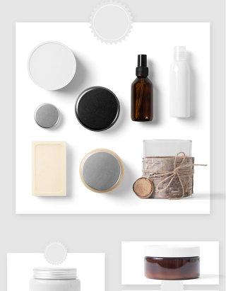 美容理发店护理产品设计贴图样机素材