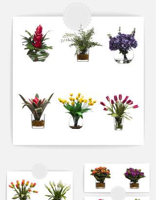 花瓶花朵元素