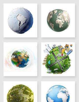 立体的地球设计素材