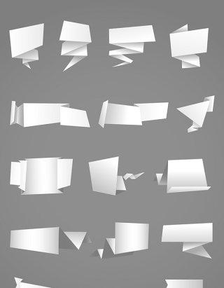白色对话框立体矢量图标图形