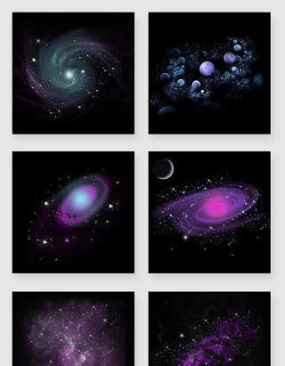 宇宙太空星云PNG素材