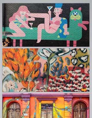 各种各样的墙画各种各样艺术